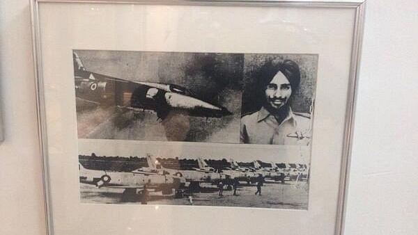 Flying Officer Nirmal Jit Singh Sekhon and his Gnat.