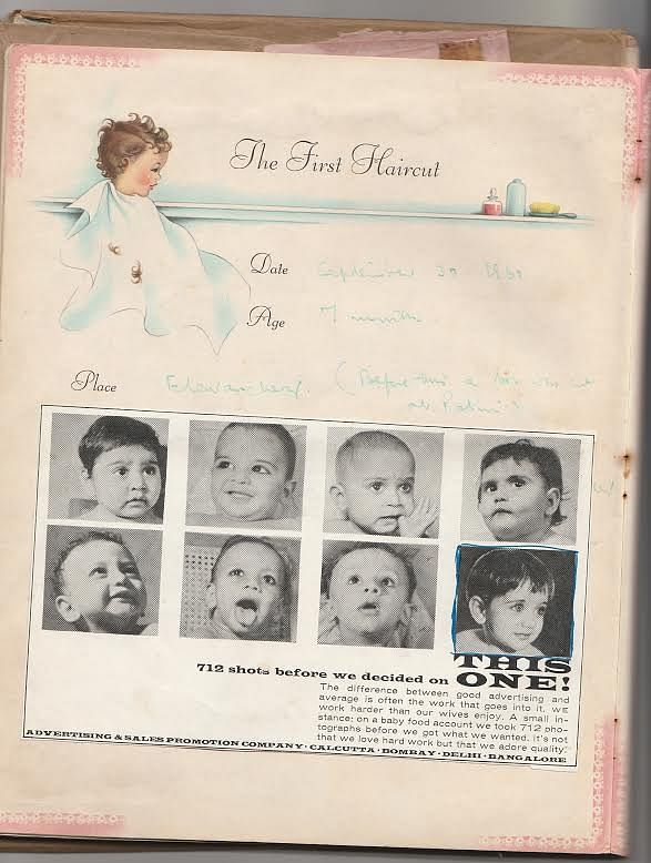 After 712 babies were photographed, Shobha Tharoor became the first Amul baby. (Photo courtesy: Shashi Tharoor)