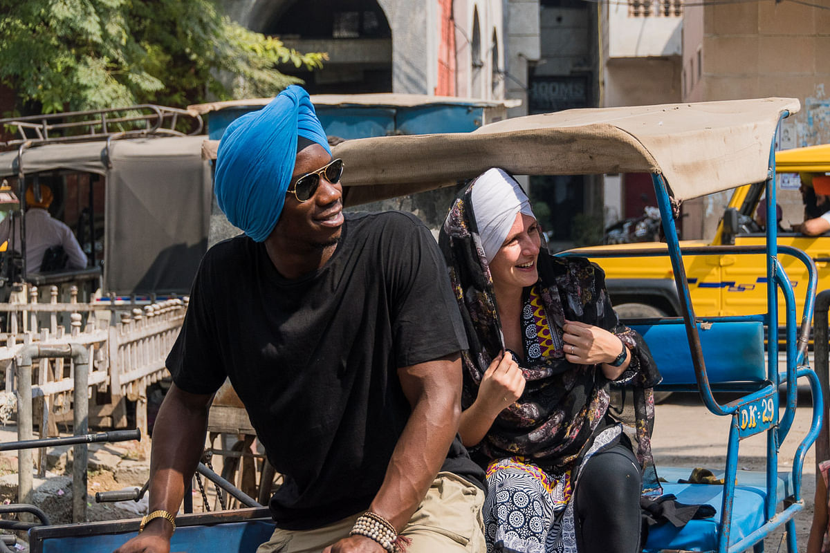 The duo soon realised that India, like any other country, was more than just 'incredible'. (Photo Courtesy: David and Katherine)