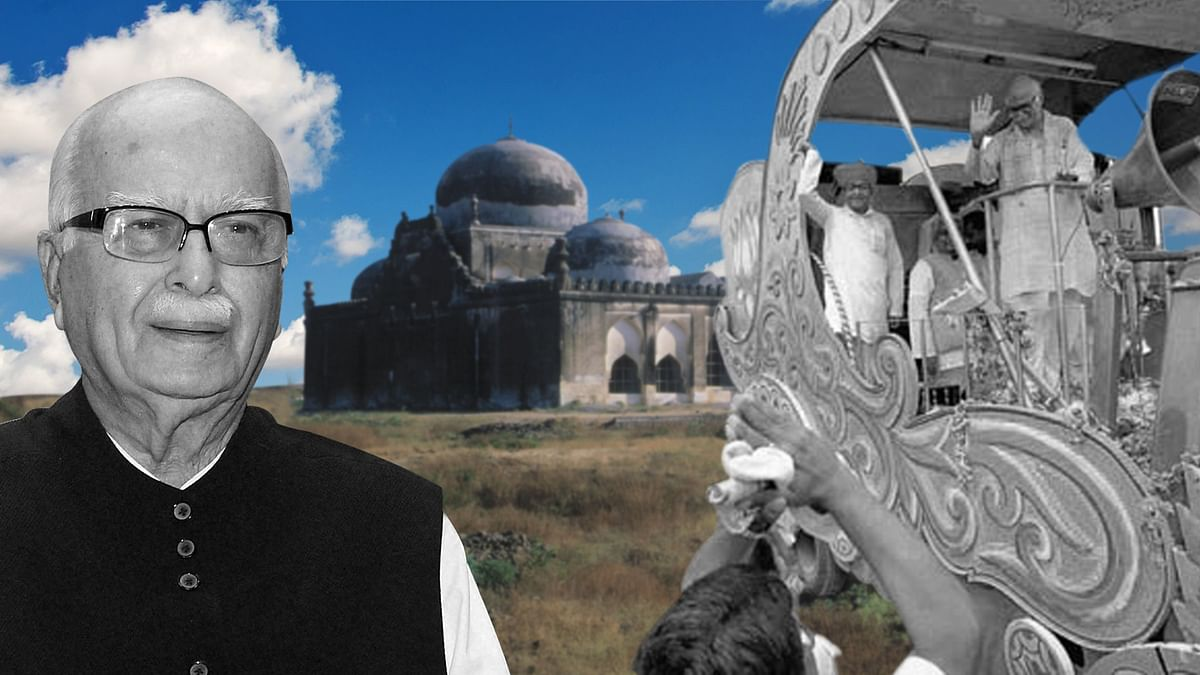 LK Advani is one of the main accused in the Babri Masjid demolition. (Photo: <b>The Quint</b>)