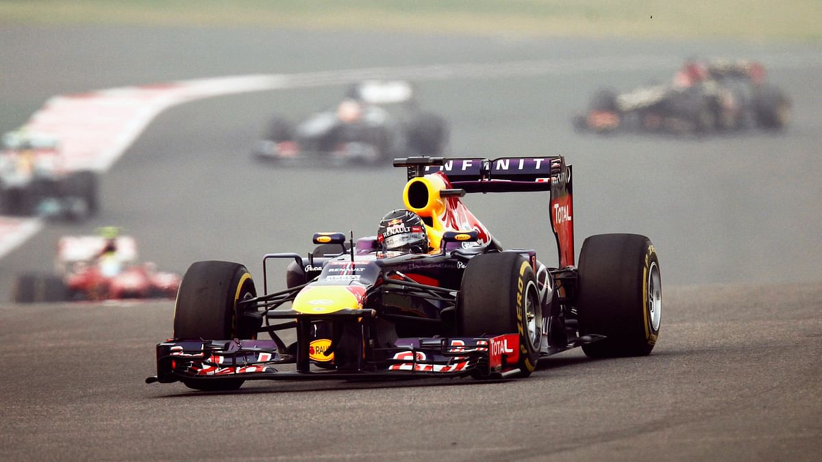 Red Bull  driver Sebastian Vettel  during the Indian F1 Grand Prix at the Buddh International Circuit.  (Photo : Reuters)