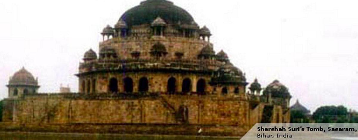 "Known Mughal king Sher Shah's maqbara (tomb) in Sasaram, Bihar. (Photo: <a href=""http://asi.nic.in/asi_monu_tktd_bihar_shershah.asp"">Archeological Survey of India</a>)"