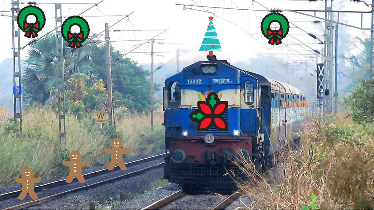 "Indian Railways Trivandrum division gears up to wish you a 'Merry Christmas'. (Photo: <a href=""https://www.facebook.com/photo.php?fbid=10203191706143125&amp;set=o.609346569121950&amp;type=1&amp;theater"">Facebook</a>)"