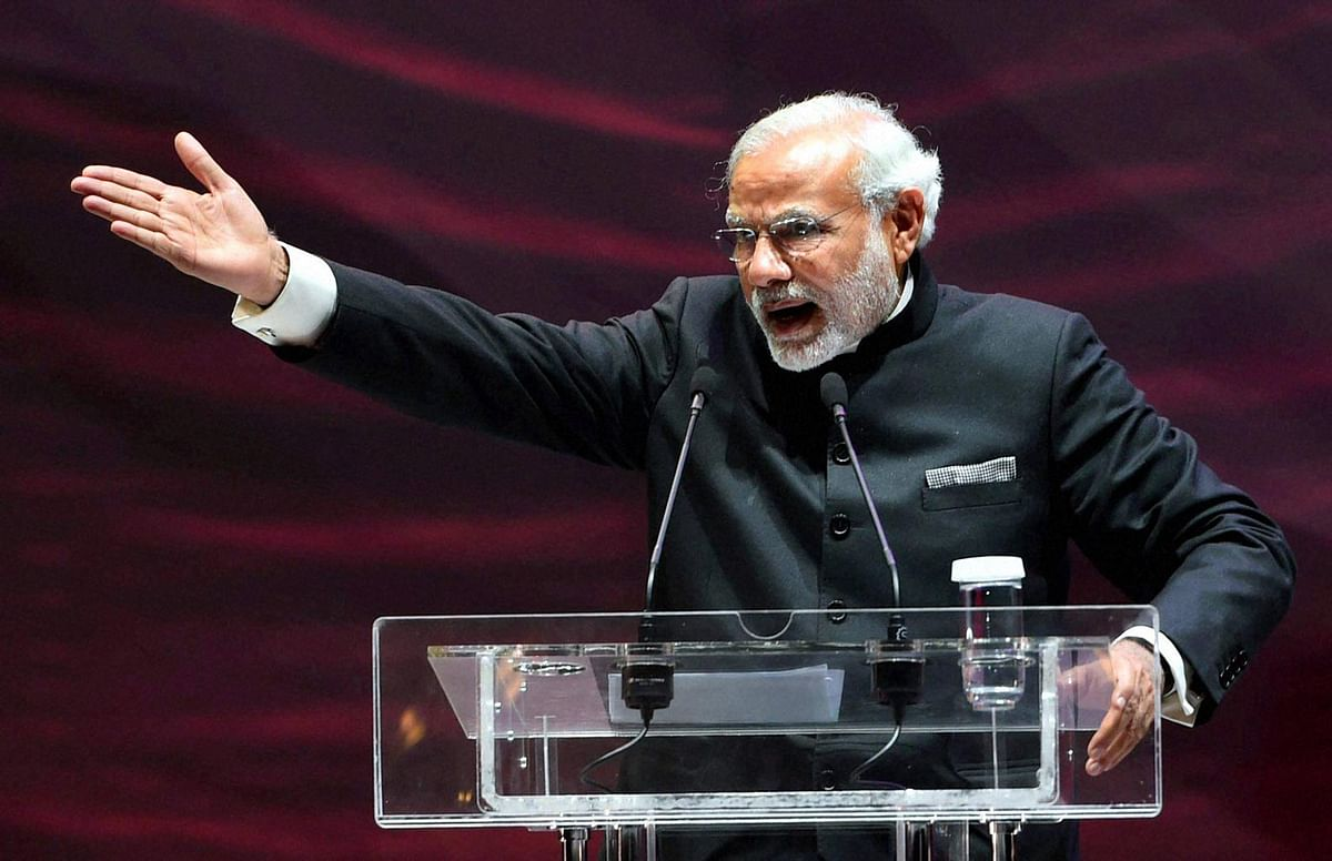 Prime Minister speaking at Friends of India event in Moscow, Russia on December 24, 2015. (Photo: PTI)