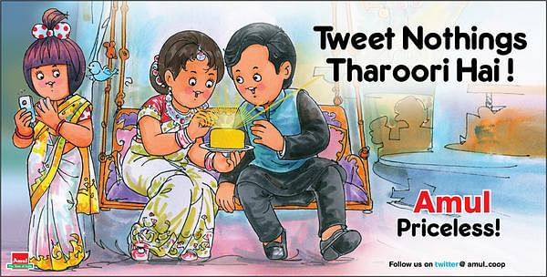 """A little bit of wordplay on the author's tweets. (Photo courtesy: Amul's <a href=""""https://twitter.com/Amul_Coop"""">Twitter page</a>)"""