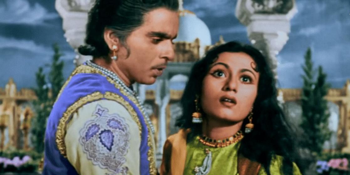 Dilip Kumar with Madhubala in <i>Mughal E Azam.</i>