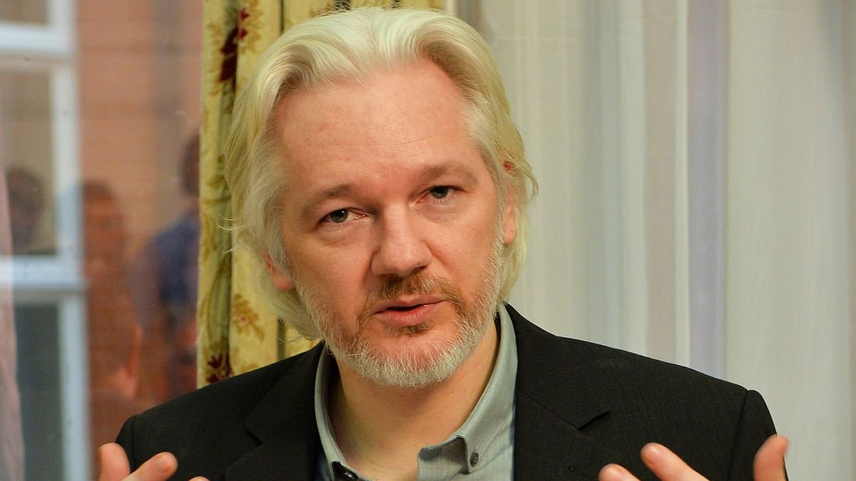 WikiLeaks founder Julian Assange at the Ecuadorian embassy in central London, Britain, in this file photo. (Photo: Reuters)