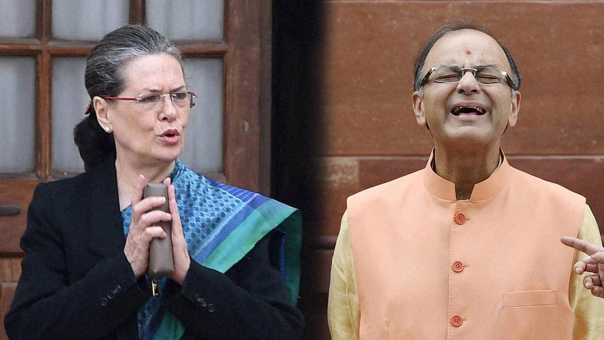 Congress President Sonia Gandhi (left) and former Finance Minister Arun Jaitley.