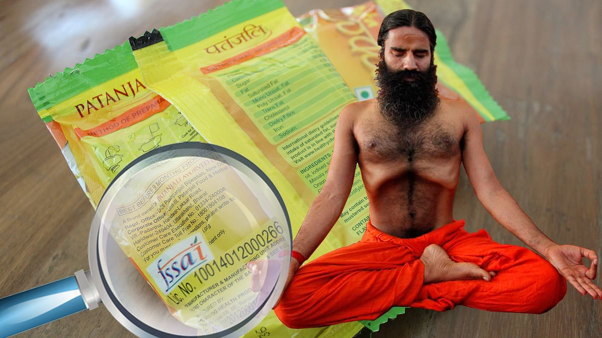 Ramdev faces flak over noodles again. (Photo: Aaqib Raza Khan/<b>The Quint</b>)