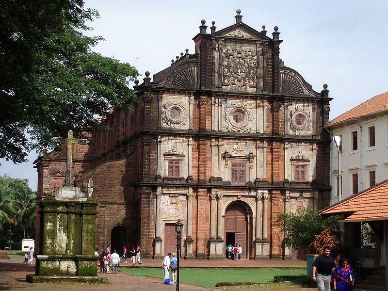 Basilica of Bom Jesus at Goa Velha. (Photo: Wikimedia Commons)