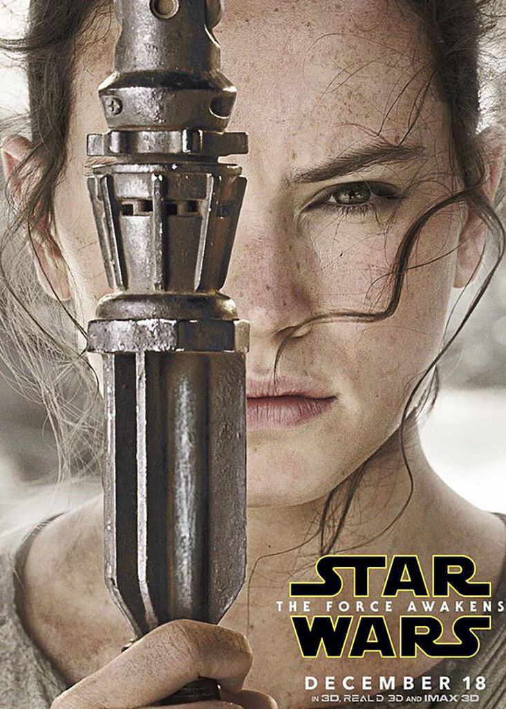 "Daisy Ridley plays Rey. (Photo: <a href=""https://twitter.com/FutureStarWars/status/662350340323450882"">Twitter/@FutureStarWars</a>)"