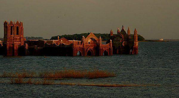 A submerged Rosary Church. (Photo: Neelima Vallangi)