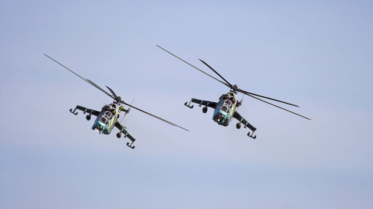 Mi-24 choppers, of which the Mi-25s are a variant, pictured. (Photo: iStockphoto)