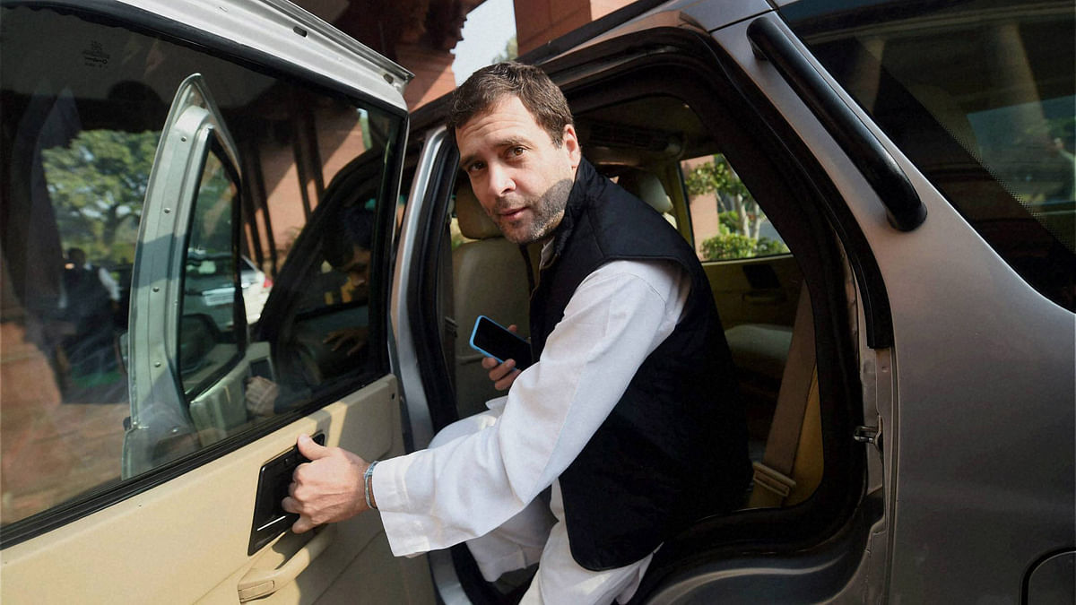 Congress Vice President Rahul Gandhi at Parliament House in New Delhi on Monday during the   Winter Session. (Photo: PTI)
