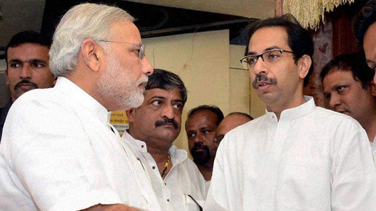File image of Shiv Sena chief Uddhav Thackeray and PM Narendra Modi. (Photo: PTI)