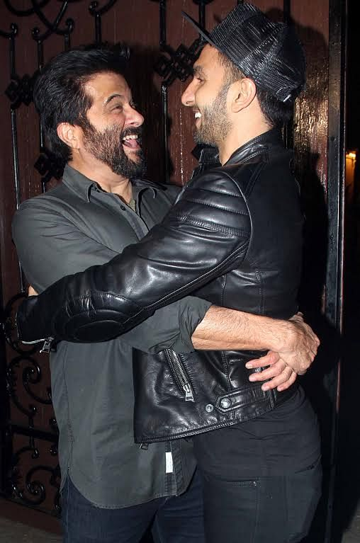 Ranveer the mad hatter having a moment with Anil (Photo: Yogen Shah)