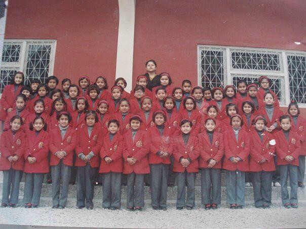The Christmas Choir in class II. (Photo Courtesy: Garvita Khybri)