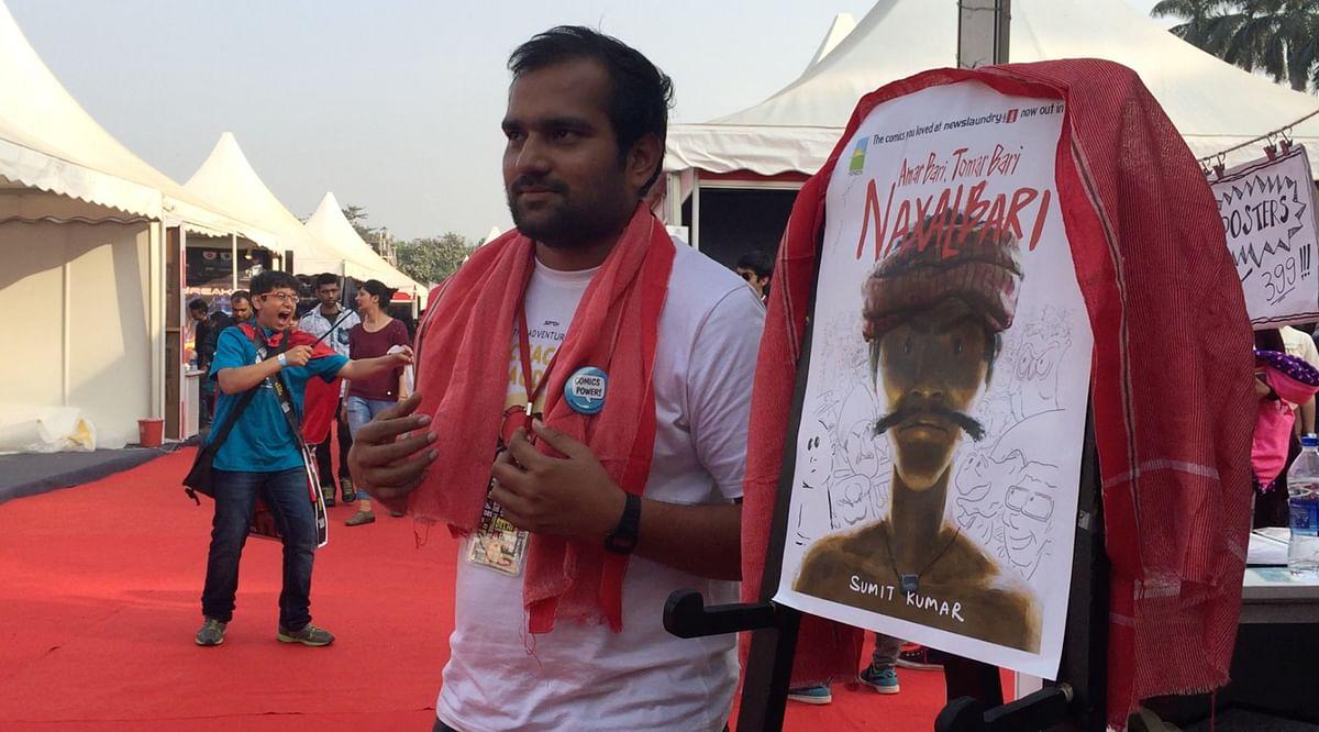 Sumit Kumar, author of <i>Amar Bari, Tomar Bari, Naxalbari. </i>(Photo: <b>The Quint</b>)