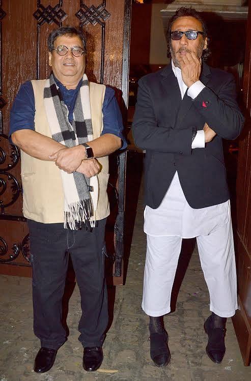 The asli heroes: Jackie Shroff and Subhash Ghai at Anil Kapoor's birthday party (Photo: Yogen Shah)