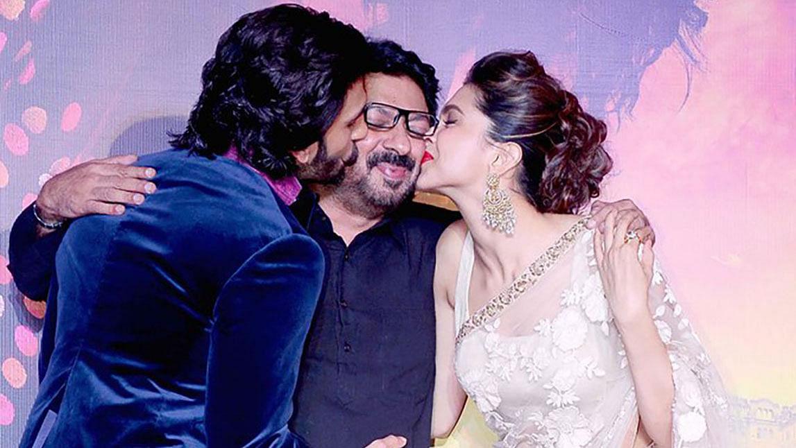 Ranveer Singh and Deepika Padukone show Sanjay Leela Bhansali some love (Photo: Yogen Shah)