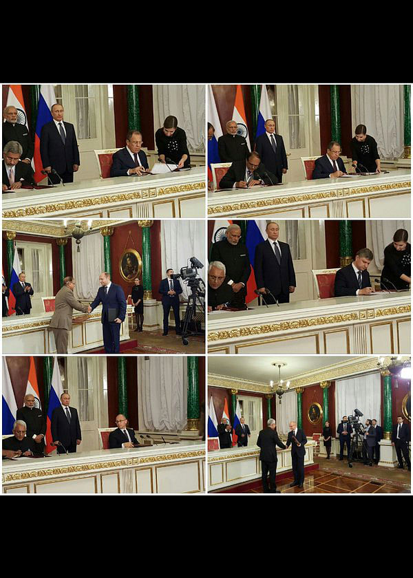 """Signing of the deal going on. (Photo: <a href=""""https://twitter.com/MEAIndia/status/680057751704342528"""">Twitter</a>)"""