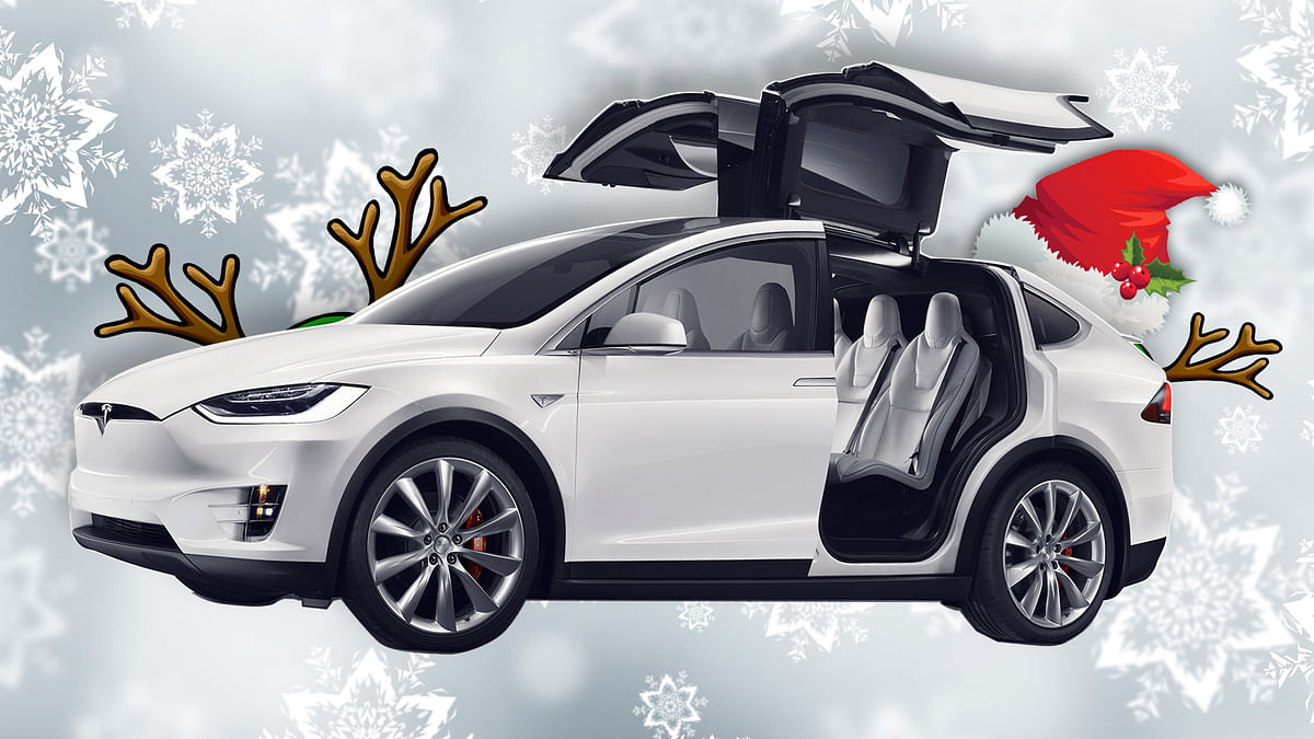 Tesla Model X has come out with its own variation of christmas celebrations. (Photo:<b> The Quint</b>/Rahul Gupta)
