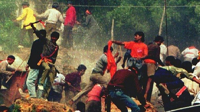 A frenzied mob took down the 16the century disputed structure within five hours on December 6, 1992. (Photo: The Quint)