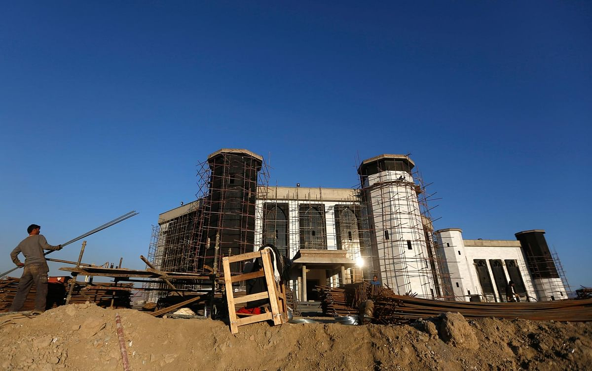 New building of the Afghanistan Parliament under construction on March 4, 2014. (Photo: Reuters)