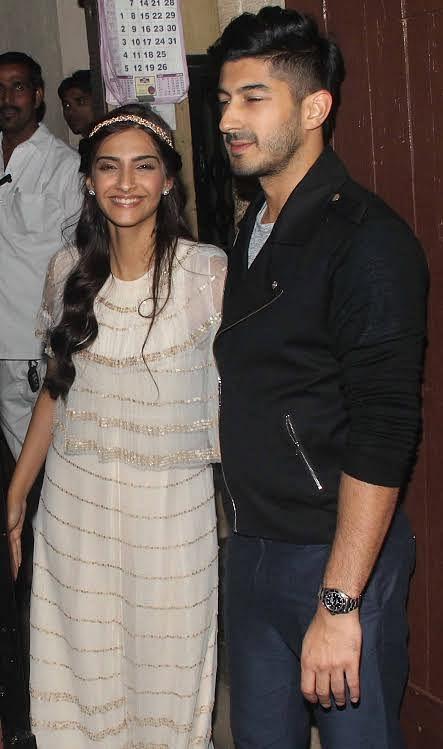 Sonam Kapoor with cousin Mohit Marwa (Photo: Yogen Shah)