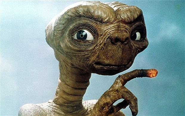 A still from <i>E.T.</i>