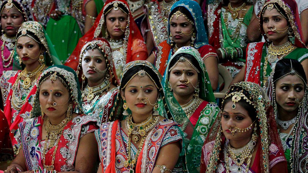 In Pics: Surat Businessman Hosts Mass Wedding for Fatherless Women