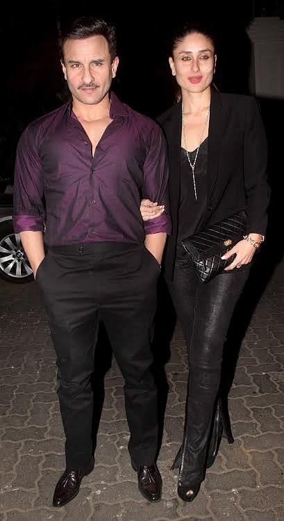 The moustache is surely the look of the season as Saif is also seen sporting one (Photo: Yogen Shah)
