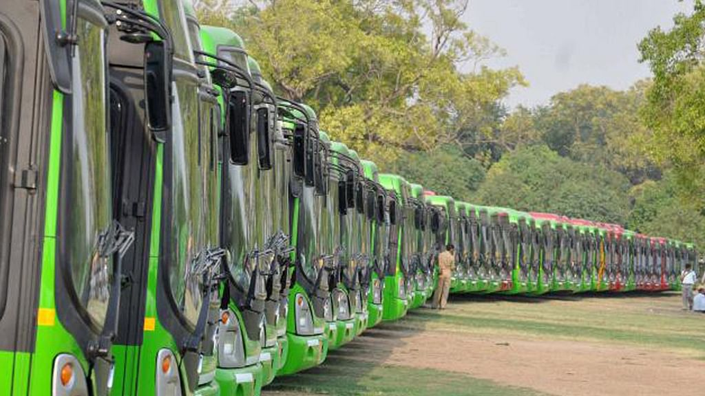 File photo of DTC buses. Image used for representational purposes.
