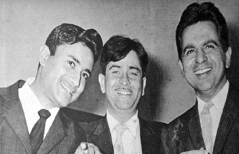 Dev Anand, Raj Kapoor and Dilip Kumar