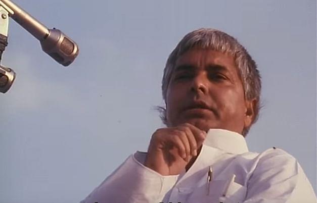 First-time Bihar Chief Minister and Janta Dal leader Lalu Prasad Yadav had warned Advani to turn back his Rath to Delhi. (Photo: Screemgrab/Ram Ke Naam)