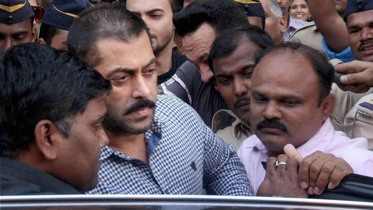 Actor Salman Khan leaves Bombay High Court after he was acquitted in the 2002 hit-and-run case, in Mumbai on Thursday. (Photo: PTI)