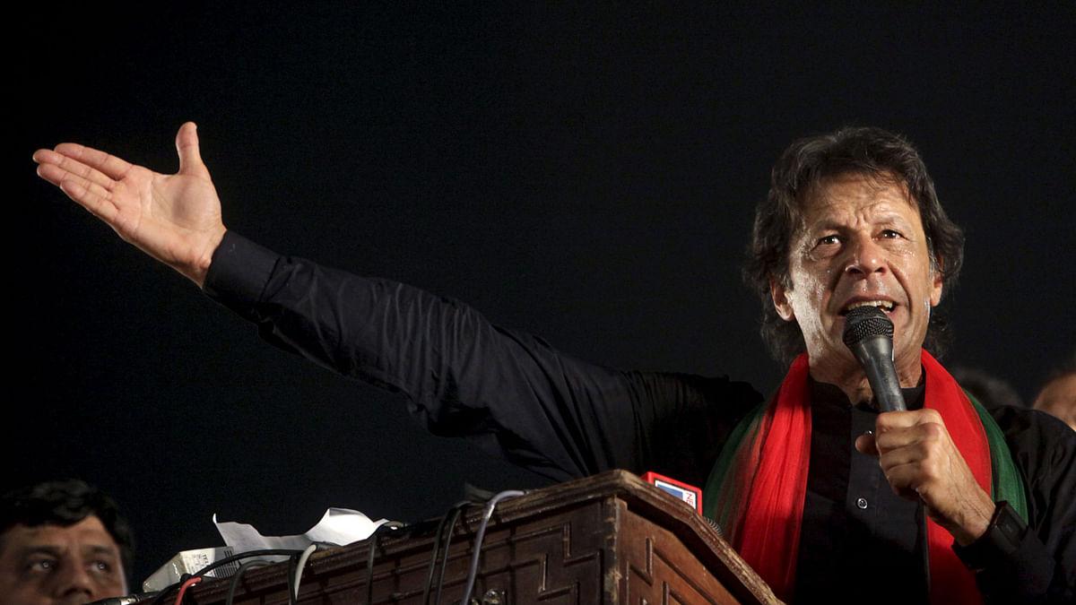 Pakistan Tehreek-e-Insaf (PTI) party chairman Imran Khan.