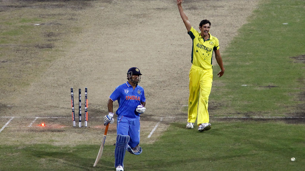 MS Dhoni gets run-out during the World Cup semi-final against Australia. (Photo: Reuters)