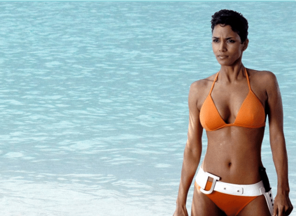 Halle Berry says her boobs defy gravity because she wears a bra in the night!