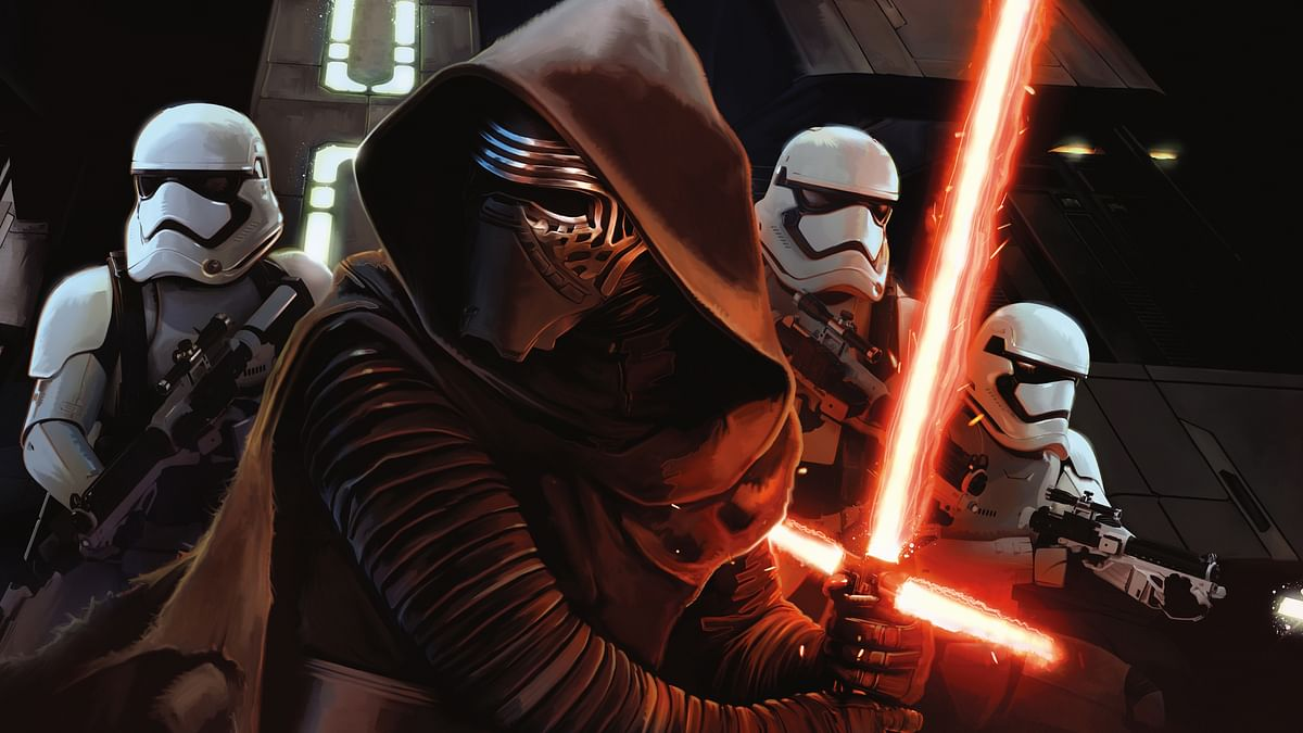 A still from the movie Star Wars: The Force Awakens.