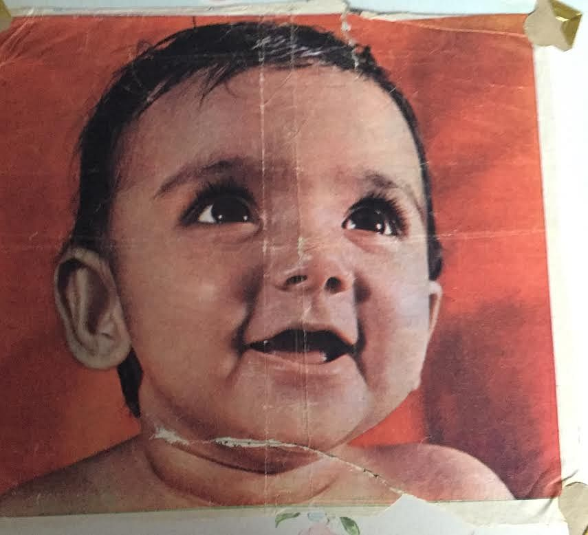 The youngest Tharoor, Smita, was the first-ever colour Amul baby. (Photo courtesy: Shashi Tharoor)