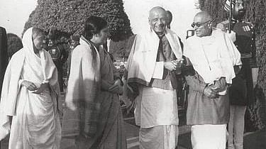 """In 1959, Rajaji outlined the goals of the Swatantra Party which  stood for equality and opposed government control over the private sector. <a href=""""https://twitter.com/mythical_india""""></a>"""