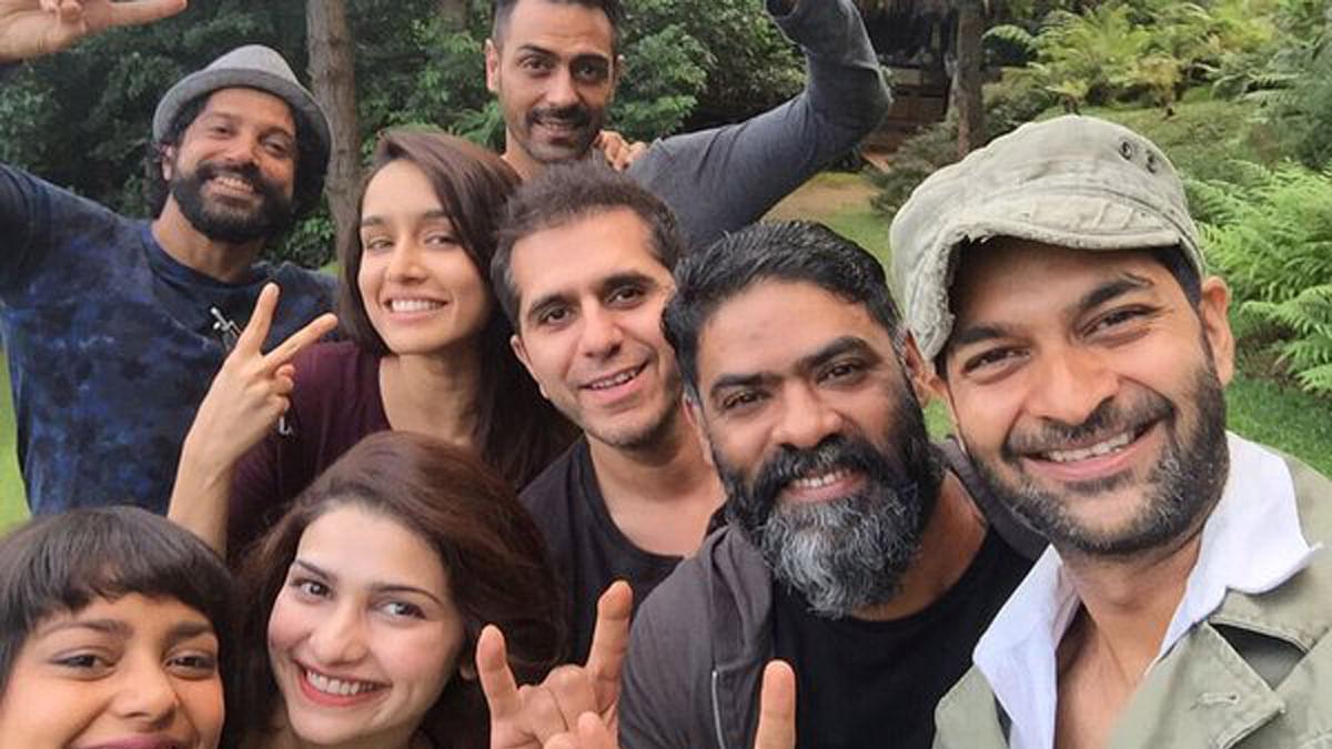 "The Rock On 2 cast. (Photo Courtesy: Twitter/<a href=""https://twitter.com/ShraddhaKapoor/statuses/657041340967055361"">Shraddha Kapoor</a>)"