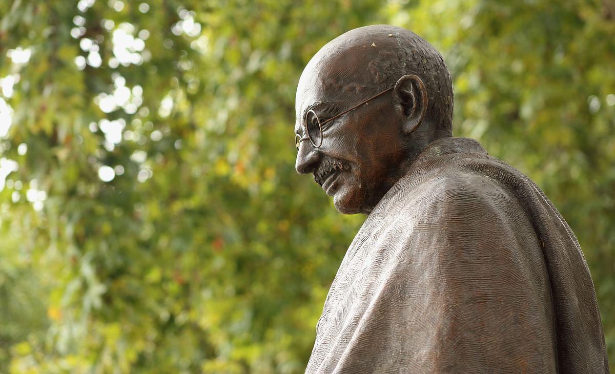 Statue of Mahatma Gandhi in London, Parliament Square.