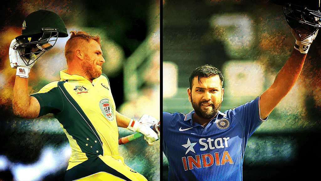 Aaron Finch (L) and Rohit Sharma (R). (Photo: AP)