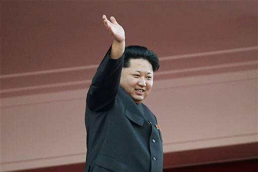North Korean leader Kim Jong Un waves at a parade in Pyongyang, North Korea. (Photo: AP)