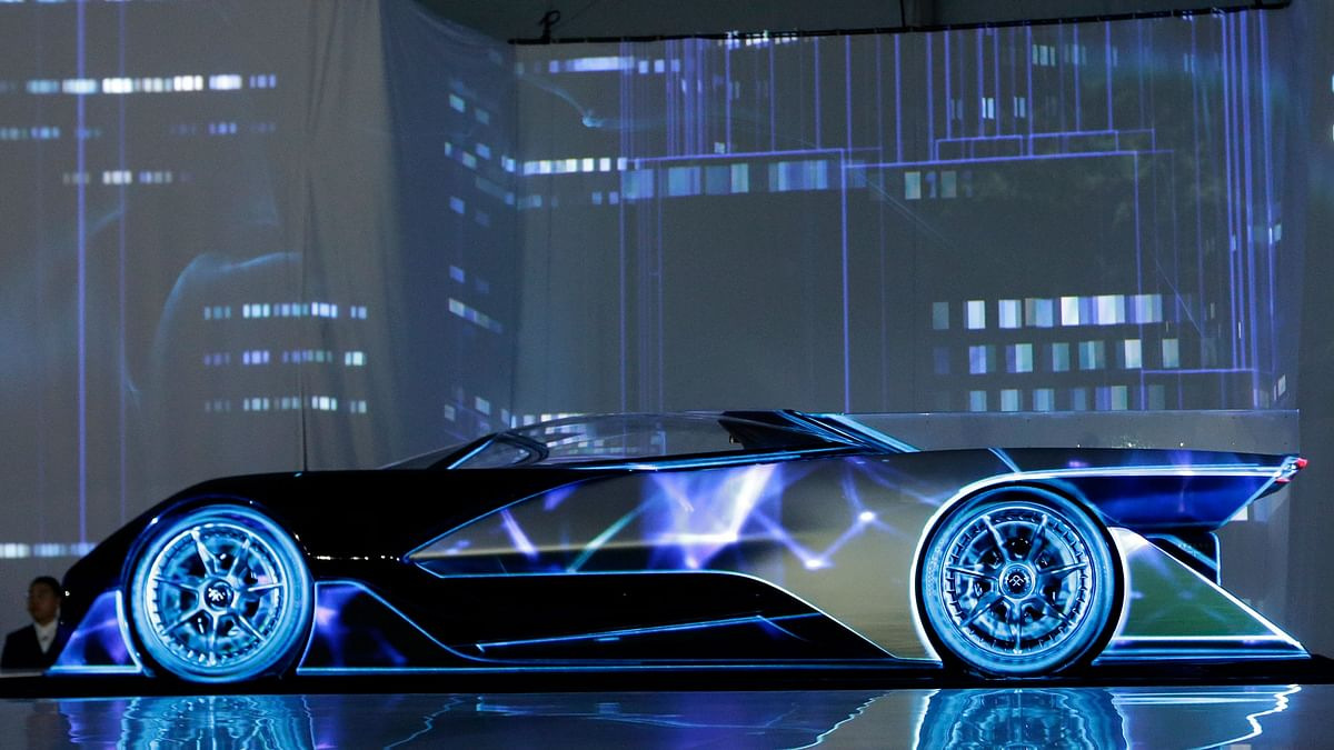 The FFZero1 by Faraday Future is displayed at CES Unveiled, a media preview event for CES International Monday, Jan 4, 2016, in Las Vegas.  (Photo: AP)