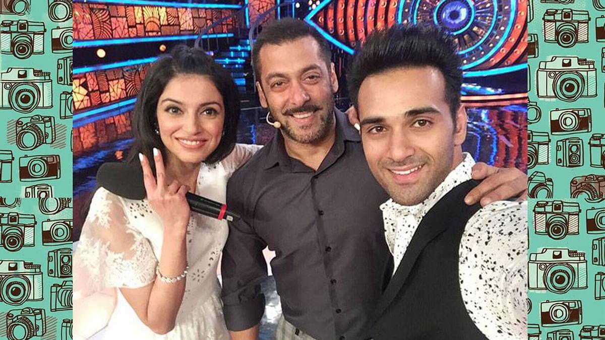 Divya Khosla and Pulkit Samrat with Salman Khan