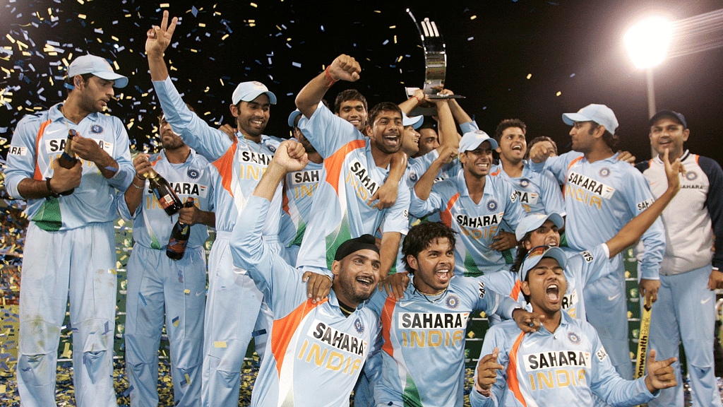 The Indian team celebrates after winning the Commonwealth Bank series in 2008. (Photo: Reuters)