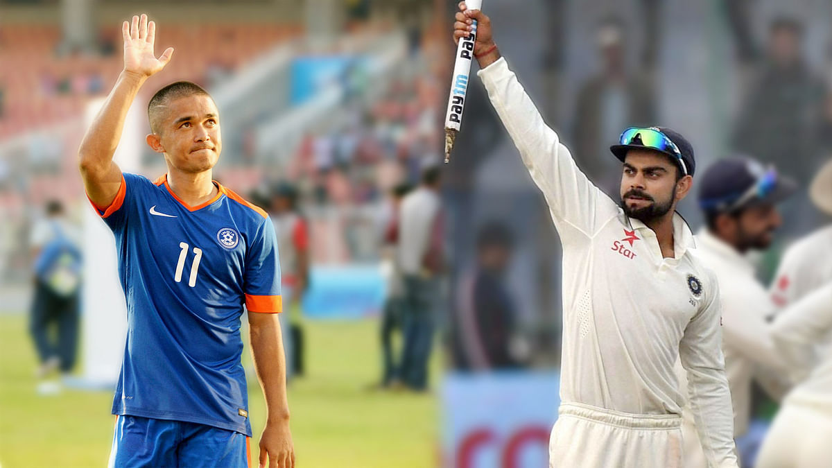 Sunil Chhetri and Virat Kohli indulged in some mutual admiration on Twitter following India's SAFF Cup win on Sunday.